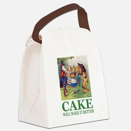 Cake Will Make It Better Canvas Lunch Bag