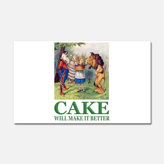 Cake Will Make It Better Car Magnet 20 x 12