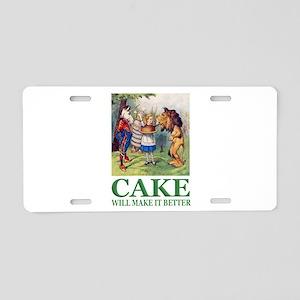 Cake Will Make It Better Aluminum License Plate