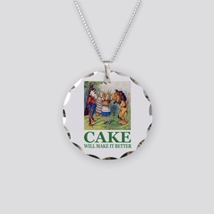 Cake Will Make It Better Necklace Circle Charm