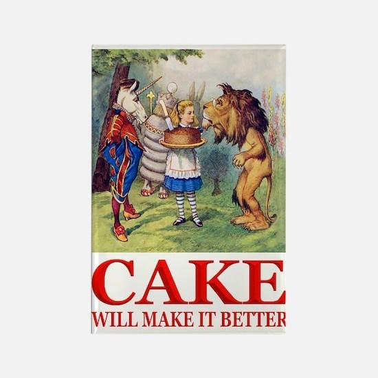 Cake Will Make It Better Rectangle Magnet