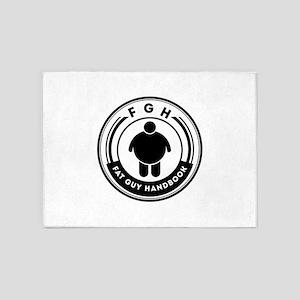 FGH bodylogo 5'x7'Area Rug