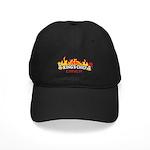 king chef flaming logo Baseball Hat