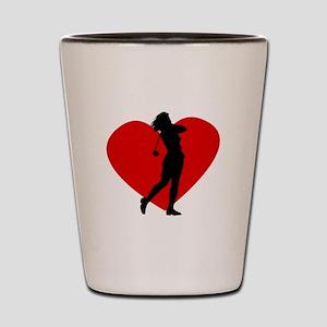 Golf Heart Shot Glass
