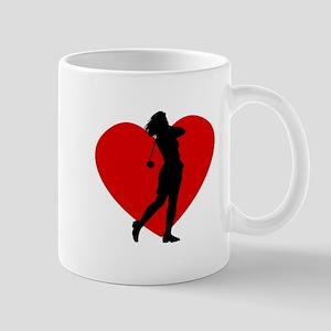 Golf Heart Mugs