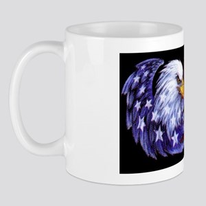 Born Free Bald Eagle And USA Flag Mug
