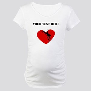 Pole Vault Heart (Custom) Maternity T-Shirt