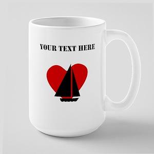 Sailing Heart (Custom) Mugs