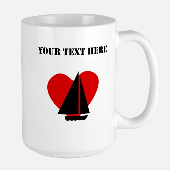 Sailing Heart (Custom) Mugs
