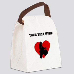 Motocross Heart (Custom) Canvas Lunch Bag