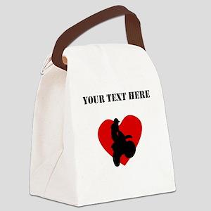 Motocross Heart (Custom) Canvas Lunch Bag