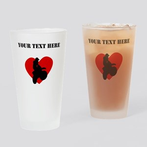 Motocross Heart (Custom) Drinking Glass