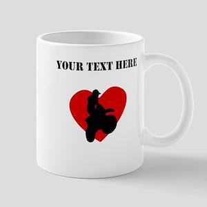 Motocross Heart (Custom) Mugs