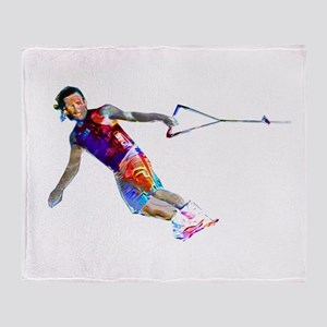 Super Crayon Colored Wakeboarding Throw Blanket