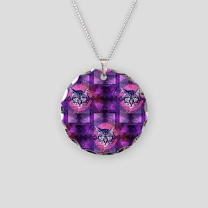 illuminati cat Necklace Circle Charm