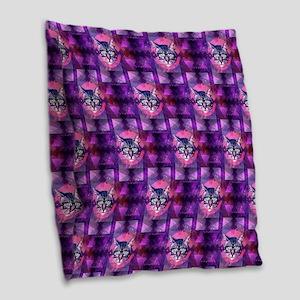illuminati cat Burlap Throw Pillow