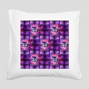 illuminati cat Square Canvas Pillow
