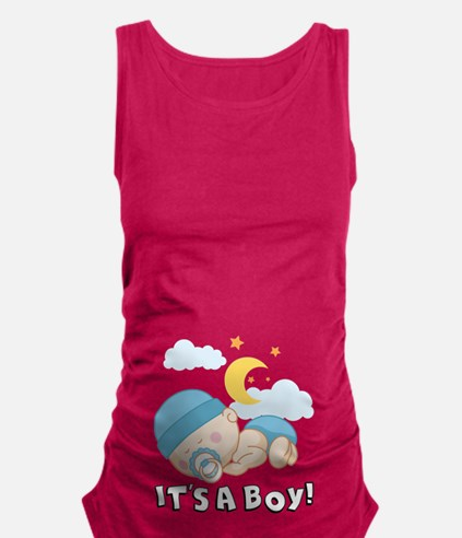 It's A Boy! Maternity Tank Top