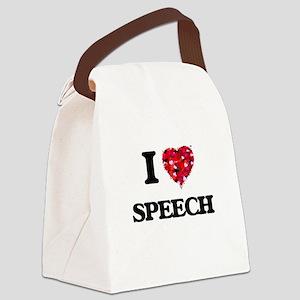 I love Speech Canvas Lunch Bag