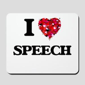 I love Speech Mousepad