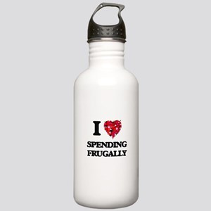 I Love Spending Frugal Stainless Water Bottle 1.0L