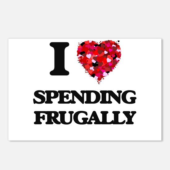 I Love Spending Frugally Postcards (Package of 8)