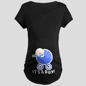It's A Boy! Maternity Dark T-Shirt