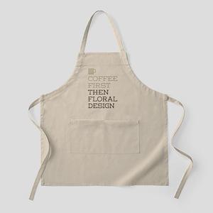 Coffee Then Floral Design Apron