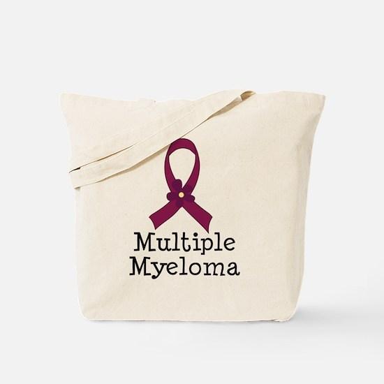 Multiple Myeloma ribbon Tote Bag