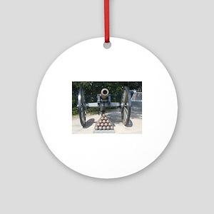 Civil War Cannon  Round Ornament