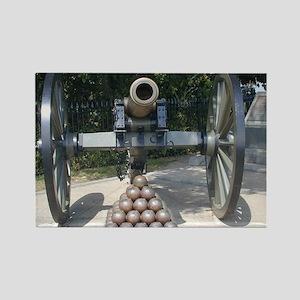 Civil War Cannon  Rectangle Magnet