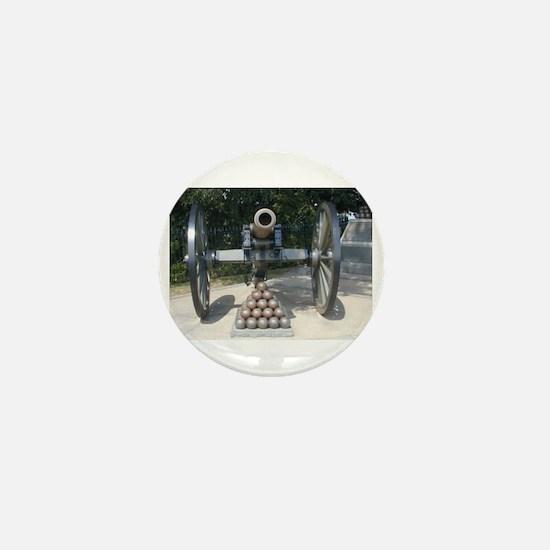 Civil War Cannon  Mini Button