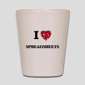 I love Spreadsheets Shot Glass
