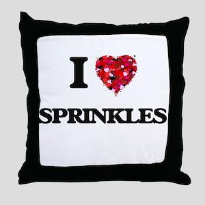 I love Sprinkles Throw Pillow