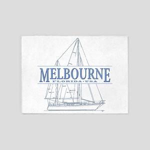 Melbourne Florida 5'x7'Area Rug