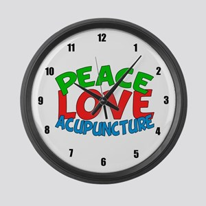 Acupuncturist Large Wall Clock