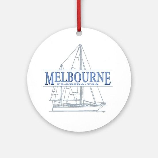 Melbourne Florida Round Ornament