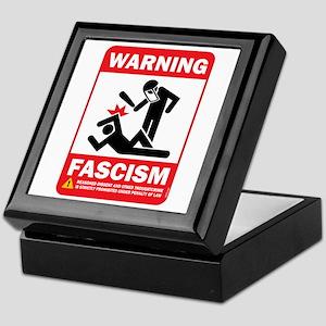 Warning fascism Keepsake Box