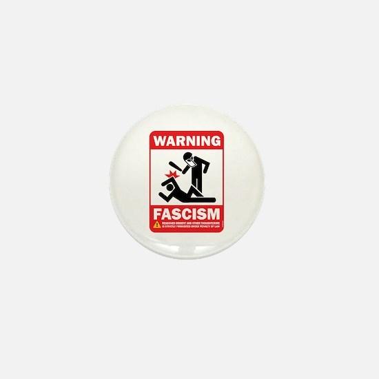 Warning fascism Mini Button