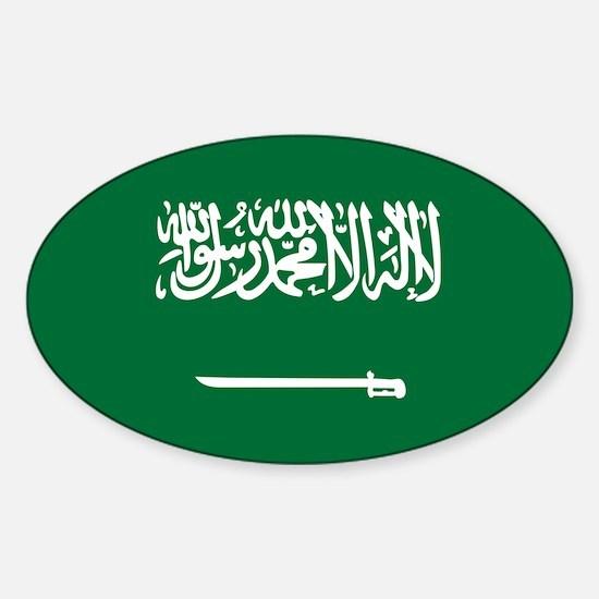 Flag of Saudi Arabia Sticker (Oval)