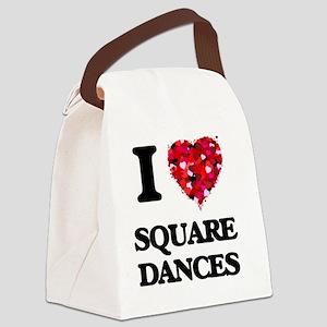 I love Square Dances Canvas Lunch Bag