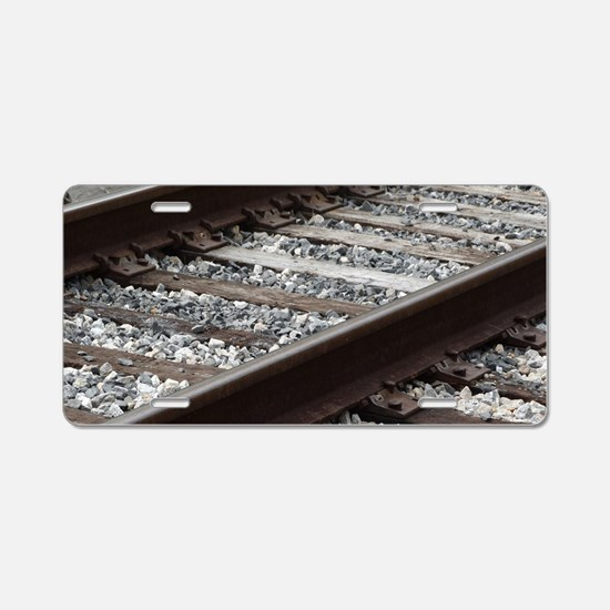Railroad Track Aluminum License Plate