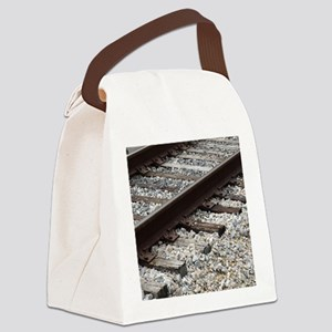 Railroad Track Canvas Lunch Bag