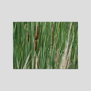 Ponds, cattails 5'x7'Area Rug