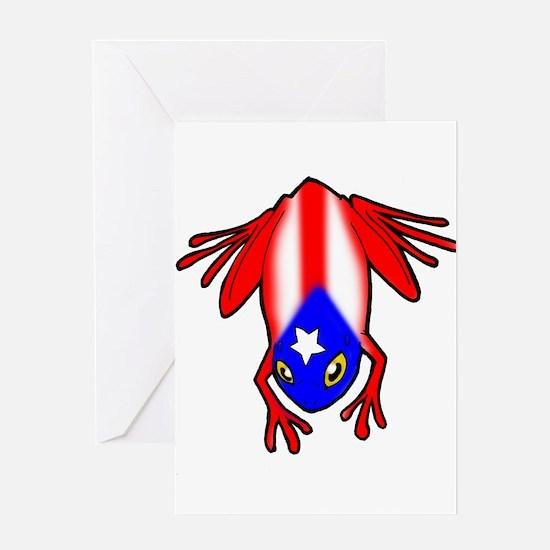 Cute Boricua flag Greeting Card