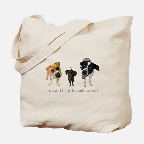 Rescued Favorite Breed Tote Bag