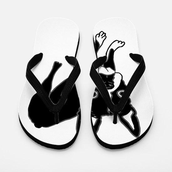 Boston Terrier Flip Flops