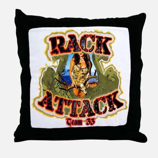Team 33 Rack Attack Throw Pillow