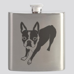 Boston Terrier Flask