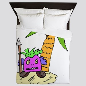 Planet of the Grapes Queen Duvet